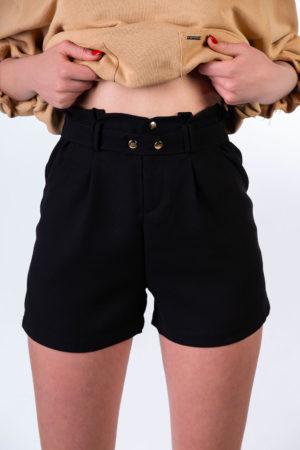 shorts vita alta nero